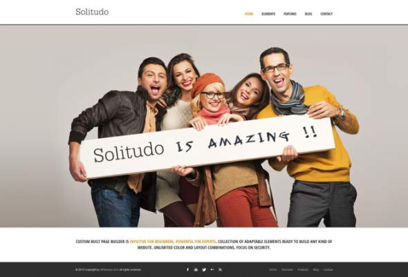 Solitudo Page Builder & 30 Customizable Elements
