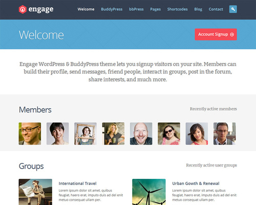 engage-buddypress-wordpress-theme