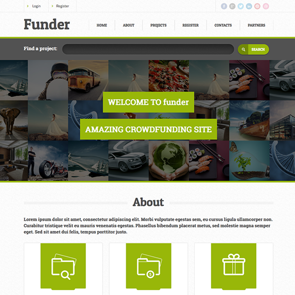 Funder WordPress Theme