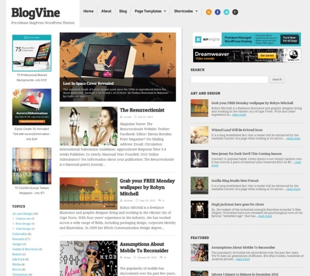 blogvine-wp-theme