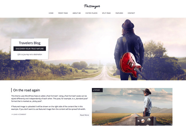 passenger WordPress theme