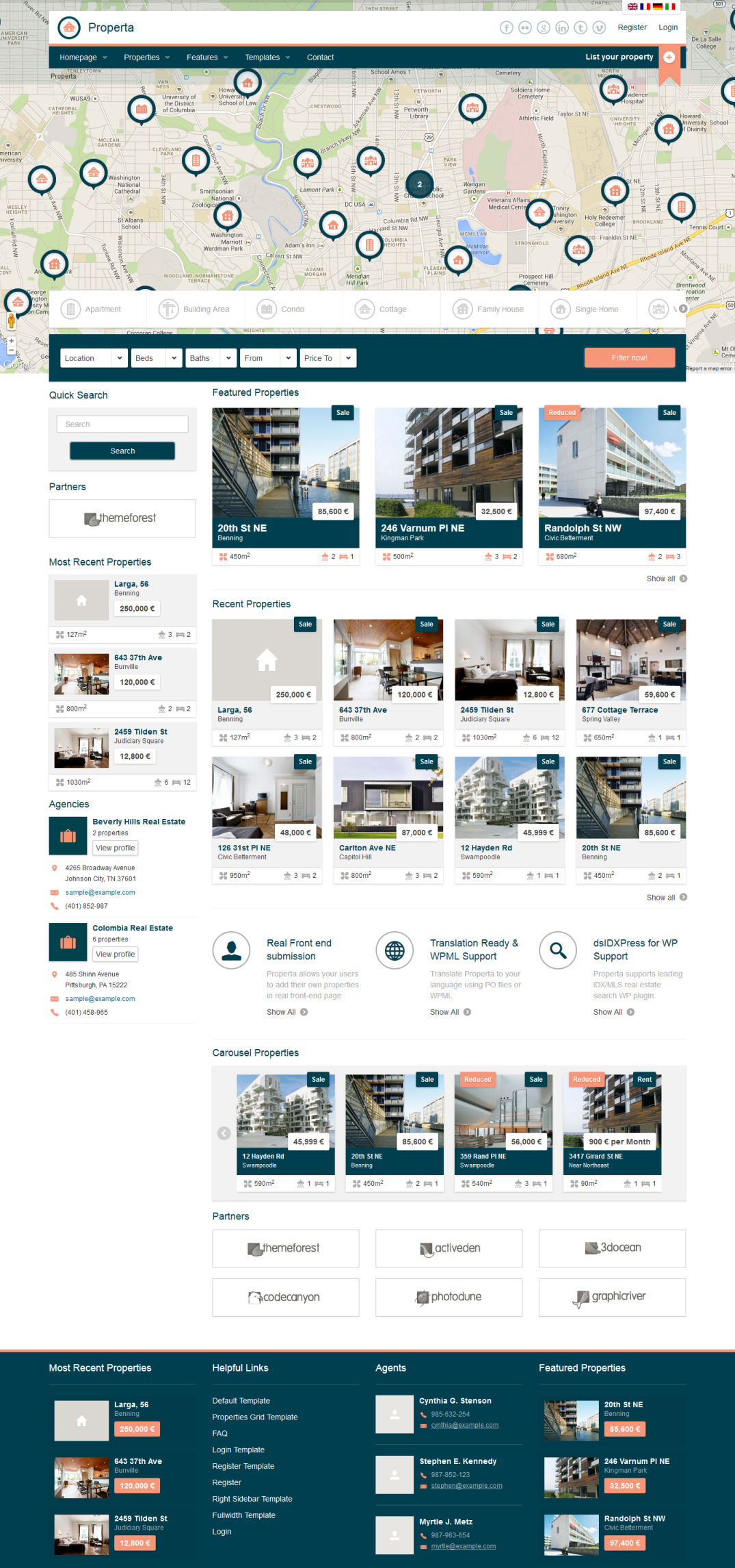 properta real estate theme