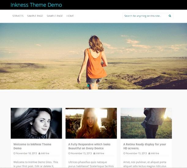 Inkness WordPress theme