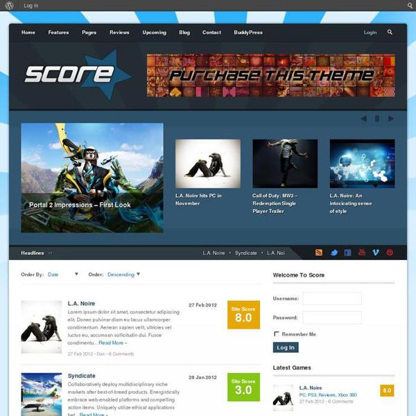 Score WordPress Theme