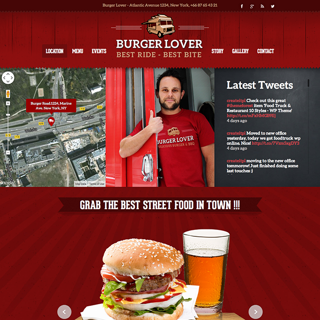 Food Truck Restaurant WordPress Theme