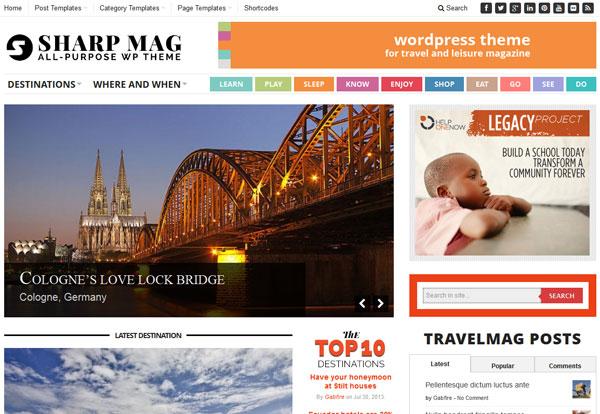 Sharp Magazine WordPress Theme