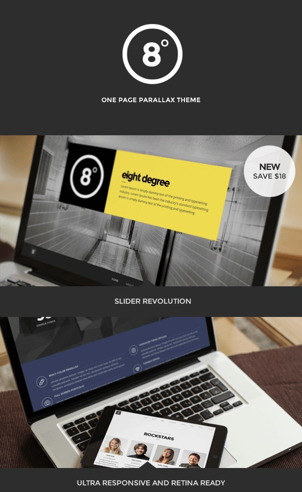 Eight Degree WordPress theme