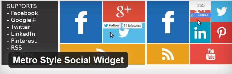 Metro Social Widget