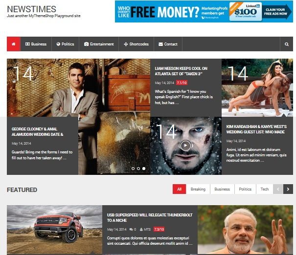 premium WordPress themes from May 2014