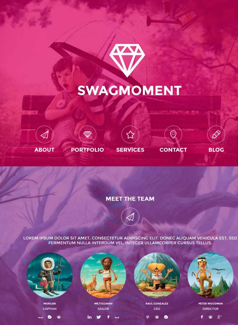 SwagMoment-Parallax-WordPress-Theme