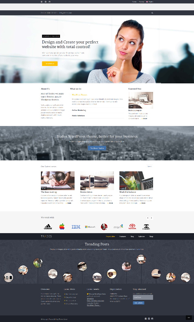 Trades-one-page-parallax-business-theme