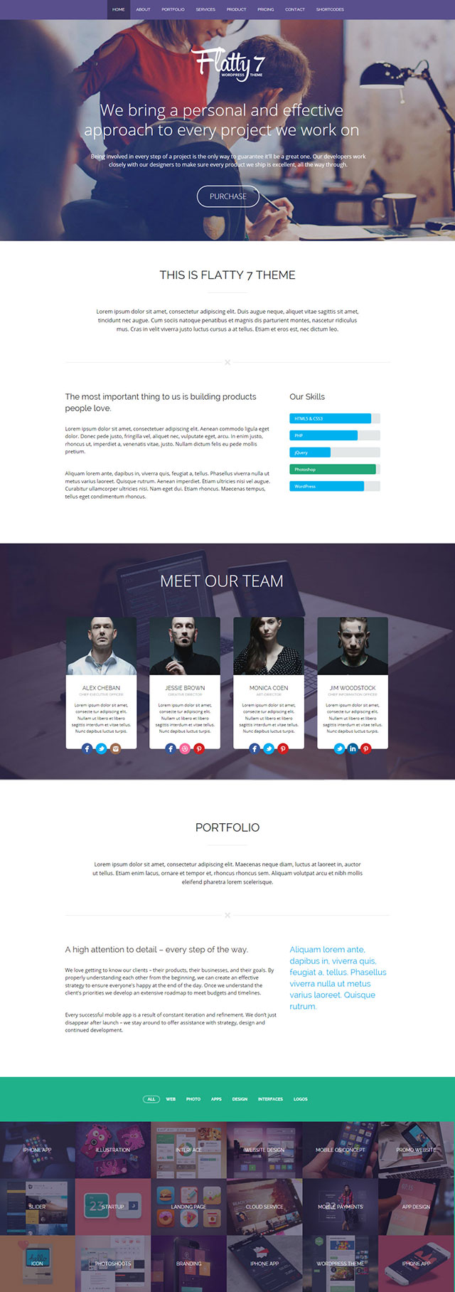 flatty-7 WordPress theme