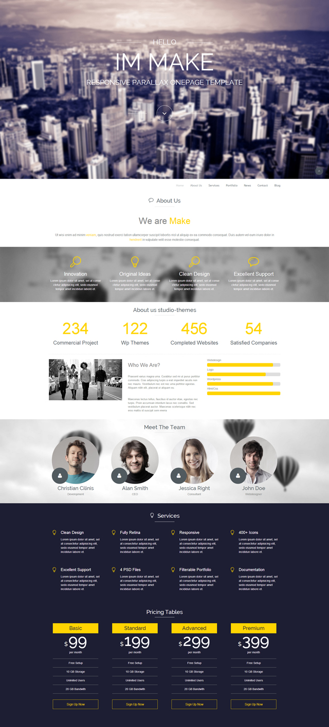 make-wordpress-parallax-one-page-theme
