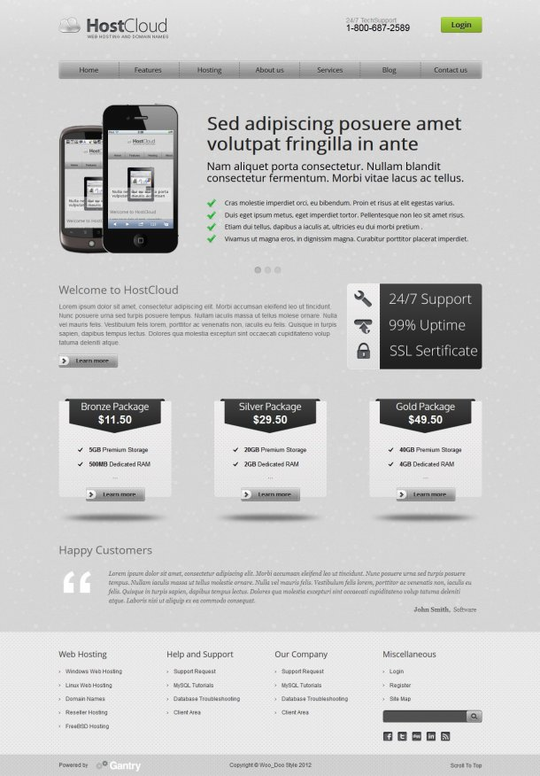HostCloud WordPress theme