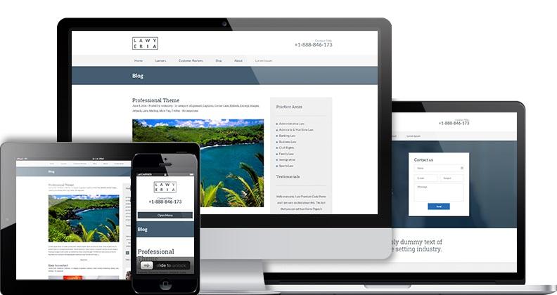 Lawyeria WordPress theme