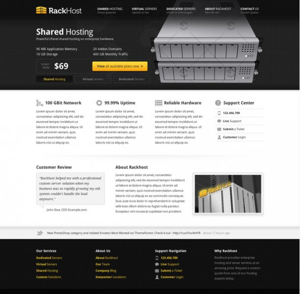 RackHost WordPress Theme