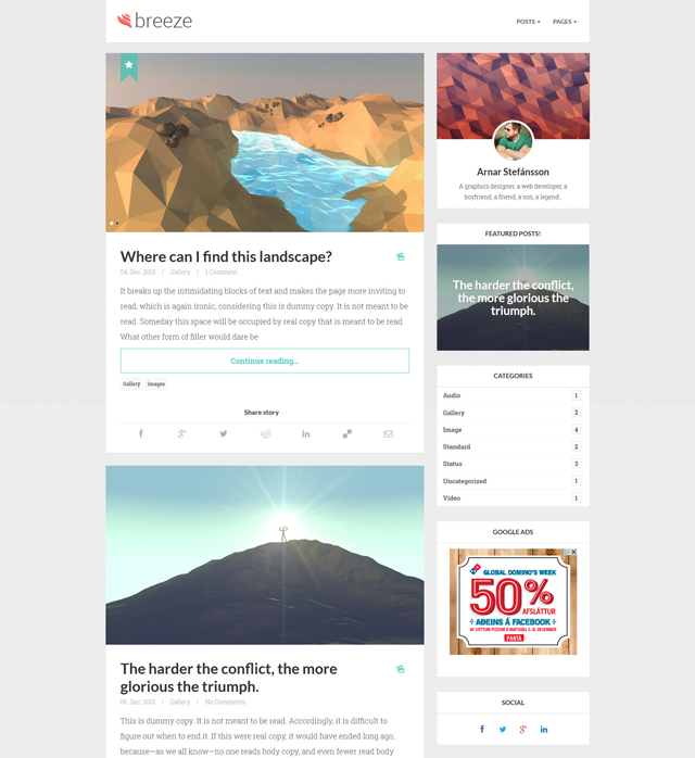 breeze-WordPress-minimalist-bootstrap-theme