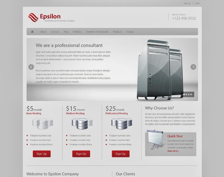 epsilon-hosting-wordpress-theme