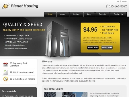 planet-hosting-wordpress-theme