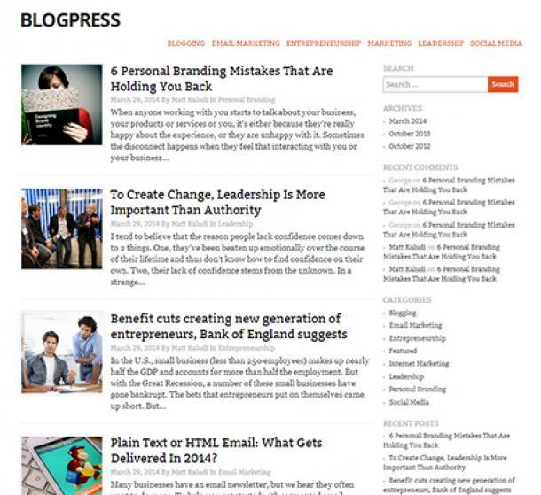 BlogPress theme