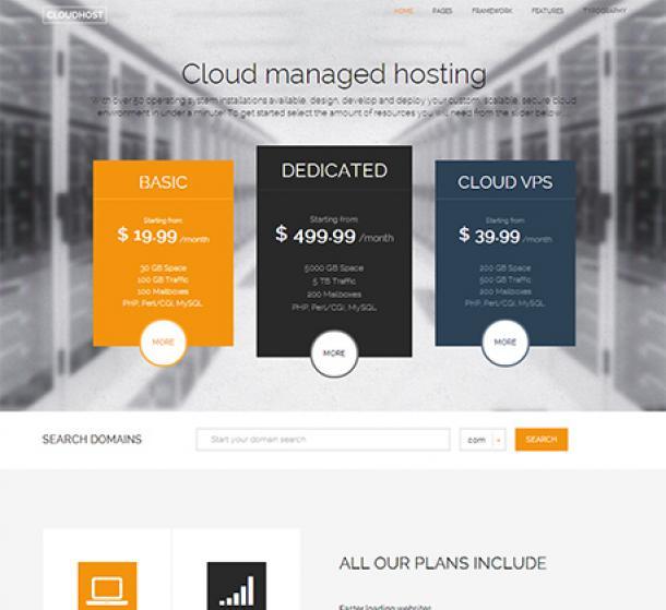 CloudHost Theme