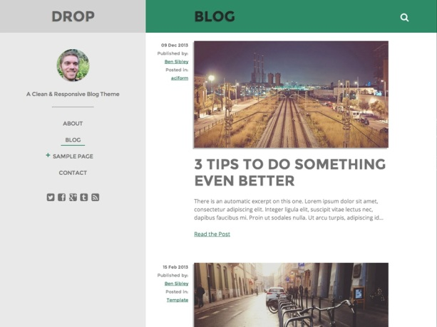 Drop WordPress Theme