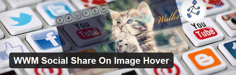 Image Hover and share plugin