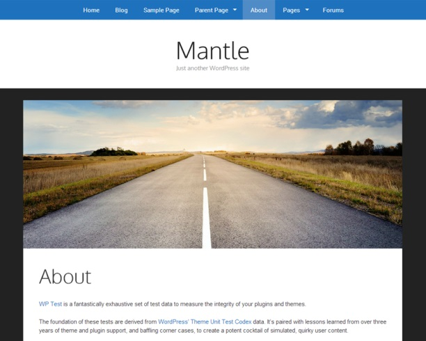 Mantle WordPress theme