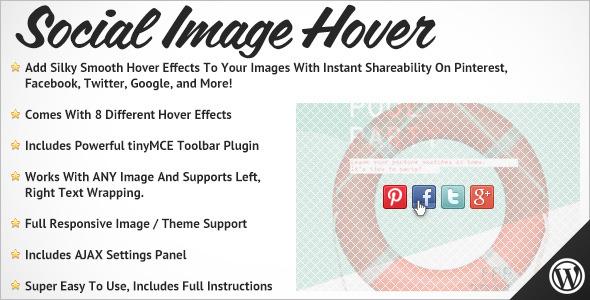 Social Image Hover for WordPress