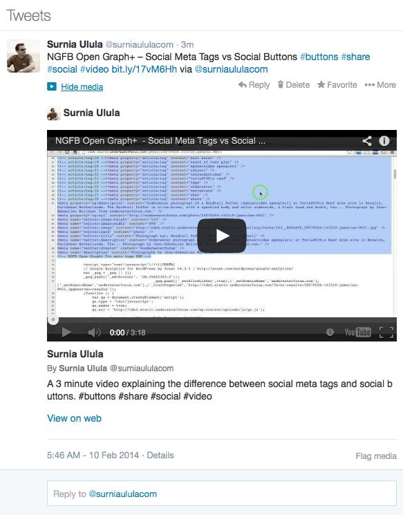 WPSSO Review Video Tweet