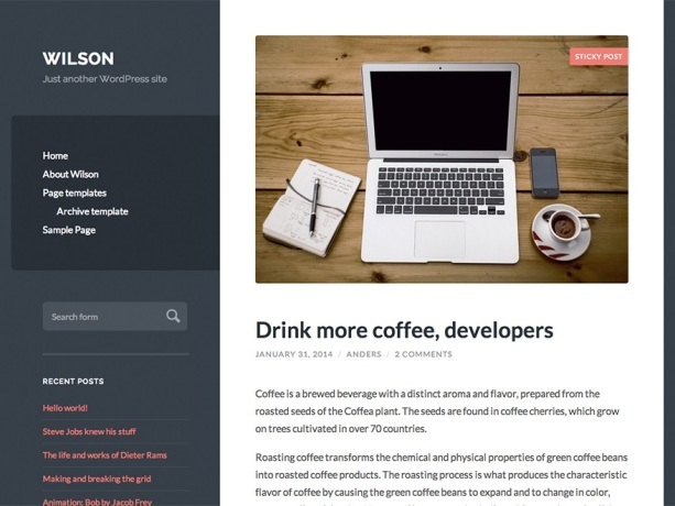 Wilson WordPress Themes