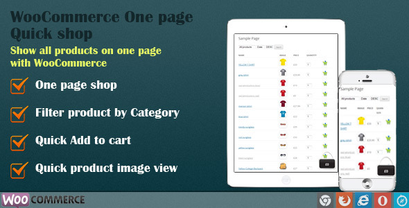 WooCommerce One Page Quick Shop