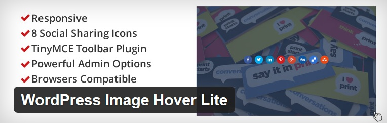 WordPress image hover and share plugin
