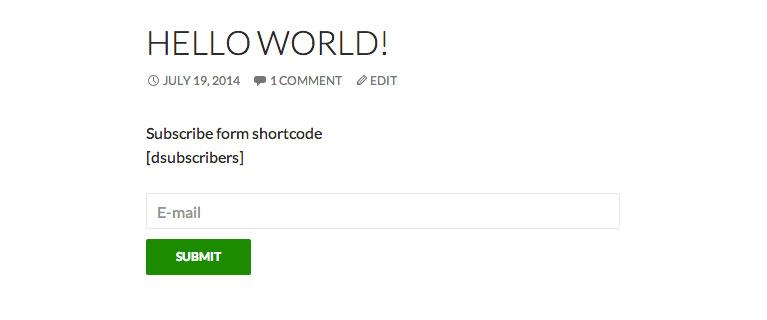dsubscribers_shortcode