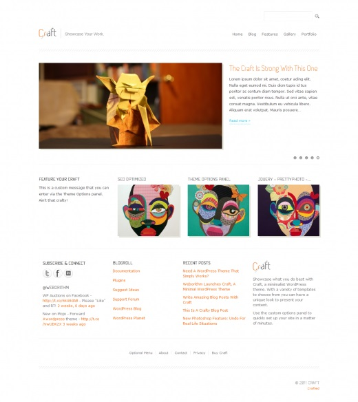 Craft-Minimal-WordPress-Theme