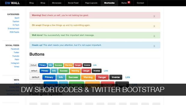 DW Shortcodes Bootstrap