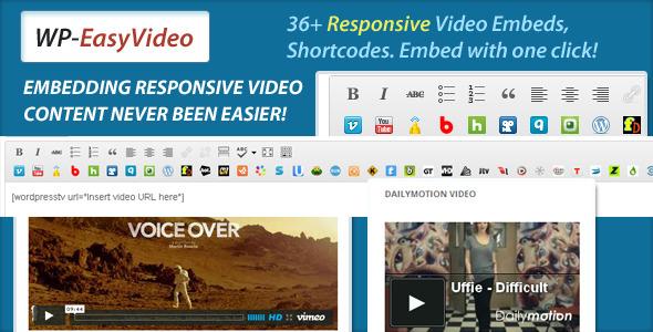 EasyVideo Shortcode