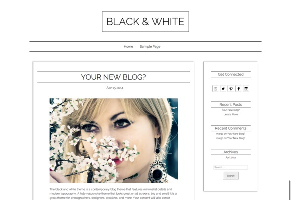 Minimal Blog Worpdress Theme