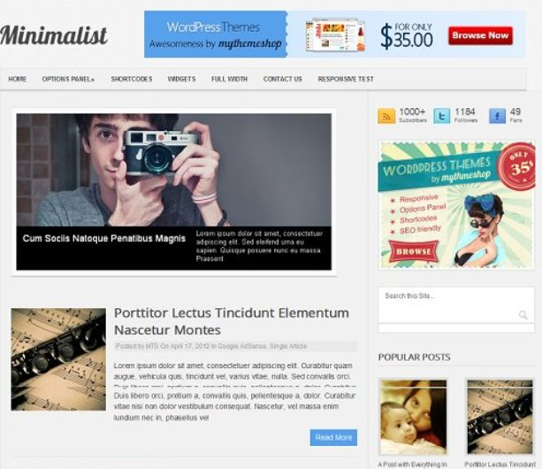 Minimalist-WordPress-Themes