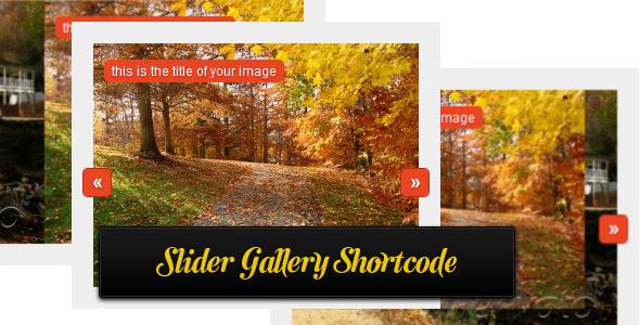 Slider gallery shortcode