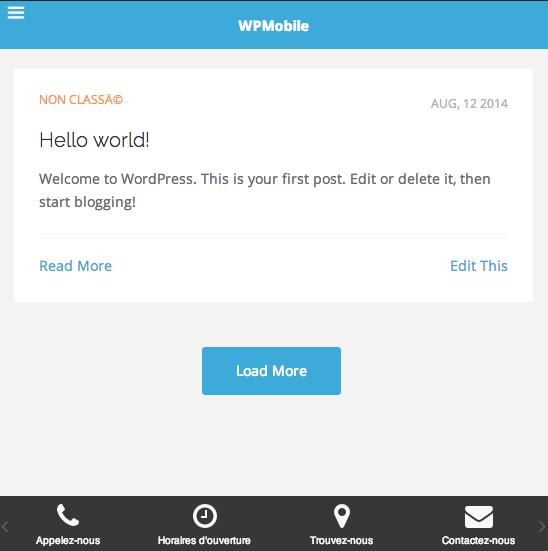 WPMobile Apps Mobile theme