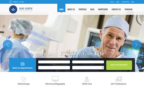 We-Care WordPress Theme