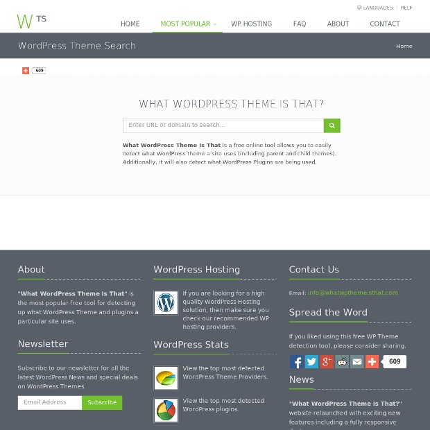 which WordPress theme a site is using