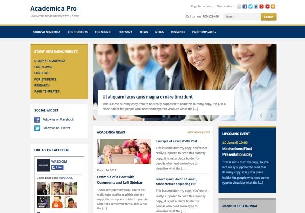 Academica Pro WordPress Theme
