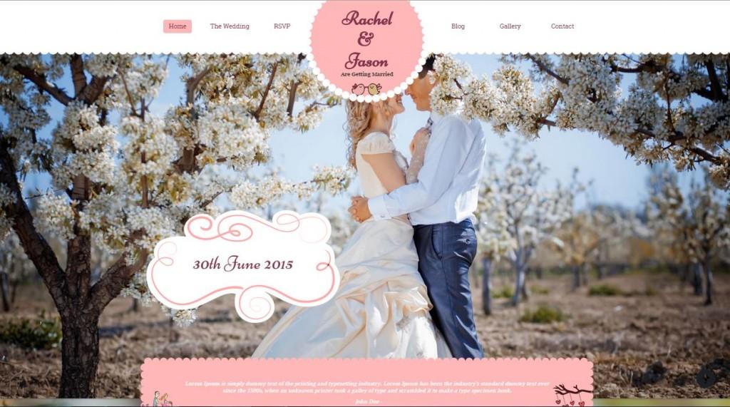 Best Wedding WordPress themes Enlance