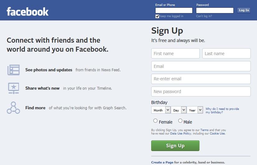 Facebook design 2014