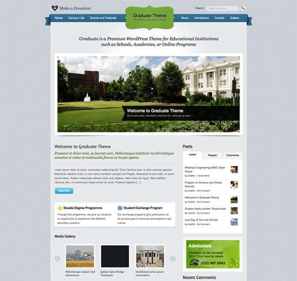Graduate WordPress theme