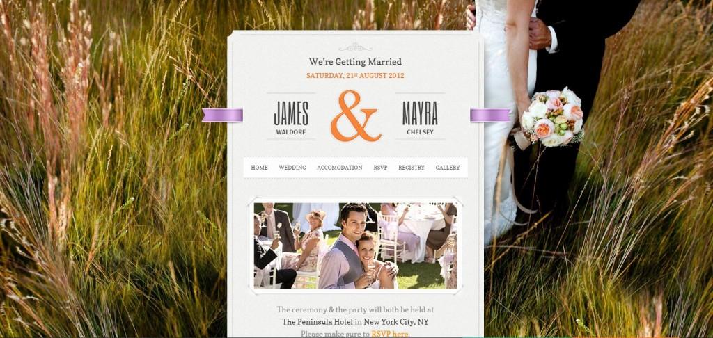 Best Wedding WordPress theme Just Married