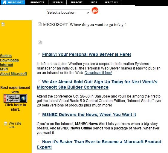 Microsoft in 1996