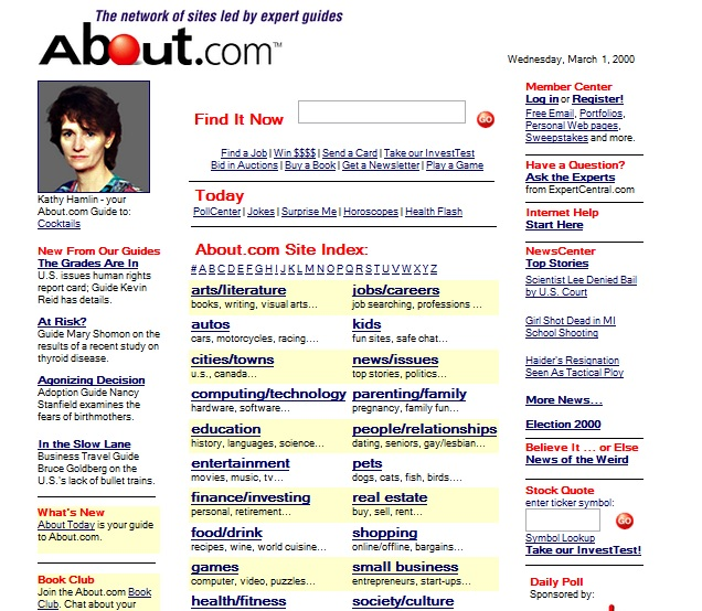 about.com in 2000